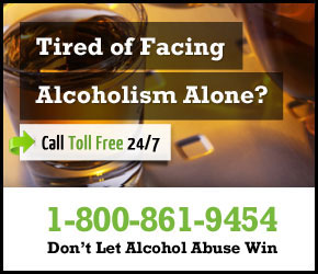 Don't Face Alcoholism Alone. Call 1-800-861-9454
